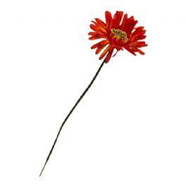 salg af Gerbera, rød/orange - 45 cm. - kunstige blomster