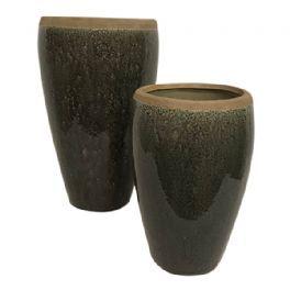 salg af Grå/brun skjuler - Ø14*H22 cm.