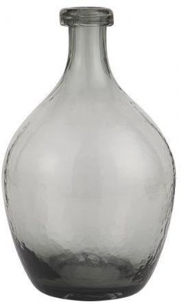 salg af Grå glasvase, mundblæst - 28 cm.