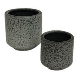 salg af Grå skjuler m/struktur - Ø10*H10 cm.