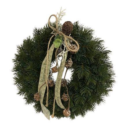 salg af Grankrans, grøn/natur - Ø 30 cm. - kunstig gran