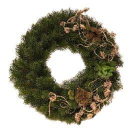 salg af Grankrans, grøn/natur - Ø40 cm. - kunstige grankranse