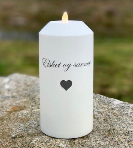 salg af Gravlys, hvid - plast 7,5*12,5 cm. - kunstige stearinlys