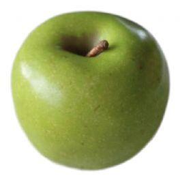 salg af Grøn æble, m/struktur - 7 cm. - kunstige frugter