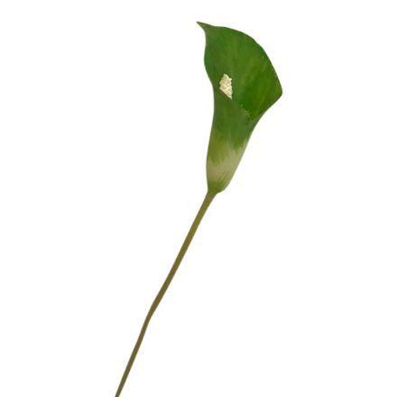 salg af Grøn Calla, plast - 50 cm. - kunstige blomster