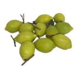 salg af Grøn Citron, 3 stk. - 8 cm. - kunstige frugter