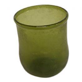 salg af Olivengrøn glasvase, 7 cm.