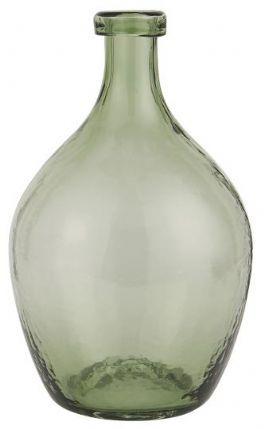 salg af Grøn glasvase, mundblæst - 28 cm.