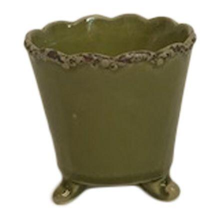 salg af Grøn skjuler m/fødder - Ø8*H7 cm.
