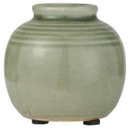 salg af Grøn vase, keramik - 8*8 cm.