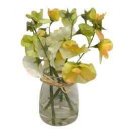 salg af Gul ærteblomst, 17 cm. - kunstige blomster