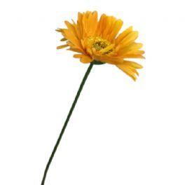 salg af Gul/orange gerbera - 55 cm. - kunstige blomster