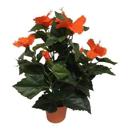 salg af Orange Hawaiblomst, 42 cm. - kunstige blomster