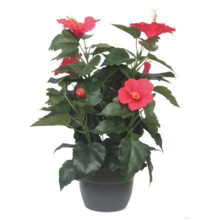 salg af Hawaiblomst. rød, 42 cm. - kunstige blomster