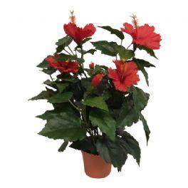 salg af Hawaiblomst rød, 42 cm. - kunstige blomst