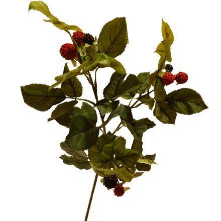 salg af Hindbærgren m/bær, 68 cm. - kunstige grene