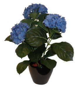 salg af Hortensia 38cm blå - kunstige blomster