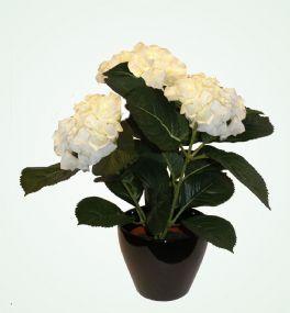 salg af Hortensia 38cm hvid - kunstige blomster