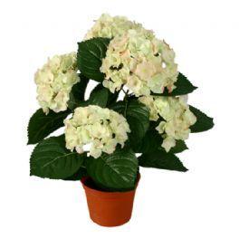 salg af Hortensia, hvid - 53cm. - kunstige blomster