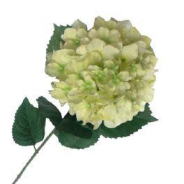salg af Creme/lime hortensia - 80 cm. - kunstige blomster