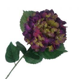 salg af Hortensia gren Lilla 80 cm. - kunstige blomster