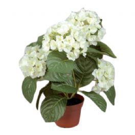 salg af Hvid Hortensia, 40 cm. - kunstige blomster