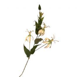 salg af Hvid blomst, 3 hoveder - 90 cm. - kunstige blomster
