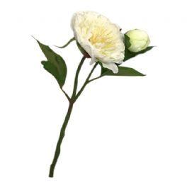 salg af Hvid bonderose m/knop - 35 cm. - kunstige blomster