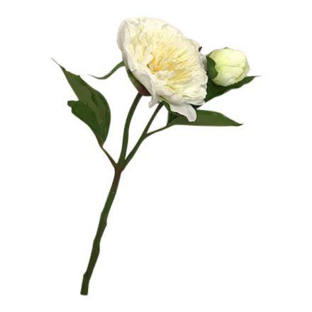 salg af Bonderose m/knop, hvid - 35 cm. - kunstige blomster