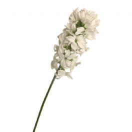 salg af Hvid hyasint m/glimmer - 30 cm. - kunstige blomster