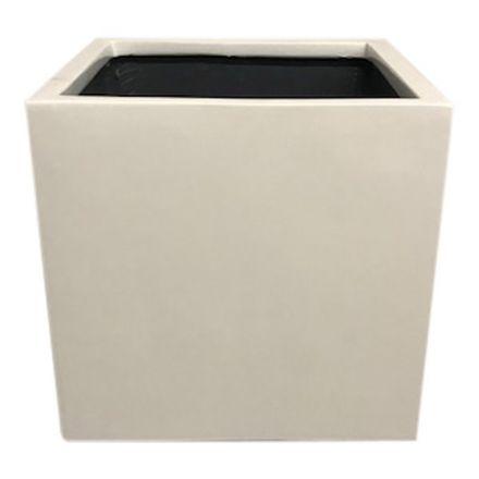 salg af Hvid krukke, fiberstone - 30*30*30 cm