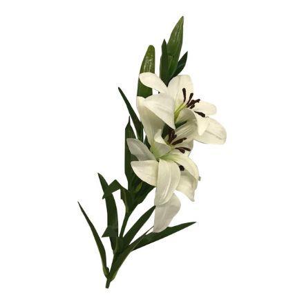 salg af Hvid lilje, 70 cm. - kunstige blomster