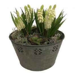 salg af Hvid perlehyasint dekoration, H25 cm. - kunstige blomster