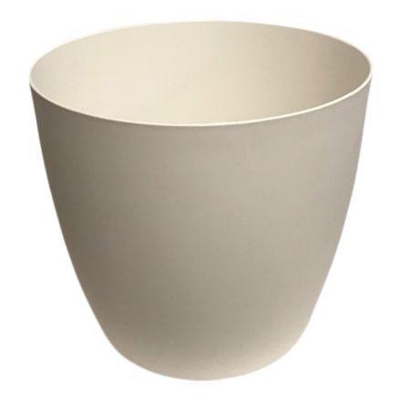 salg af Hvid plast krukke, m/hjul - Ø47*38 cm.