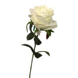 salg af Hvid rose - 45 cm. - kunstige blomster