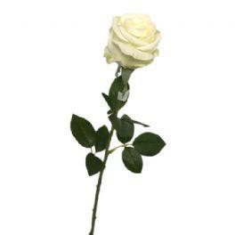 salg af Hvid rose - 70 cm. - kunstige blomster