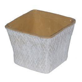salg af Hvid skjuler - flet struktur - brun kant