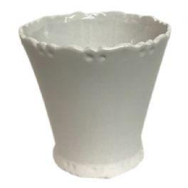 salg af Hvid skjuler m/mønster - Ø12* H11 cm.