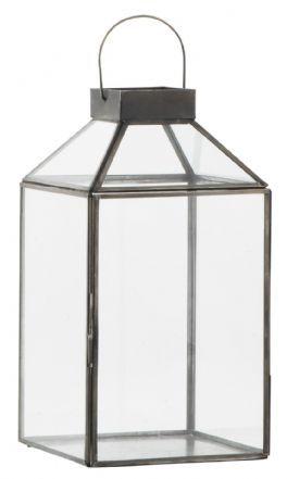 salg af Sort lanterne, H29 cm.