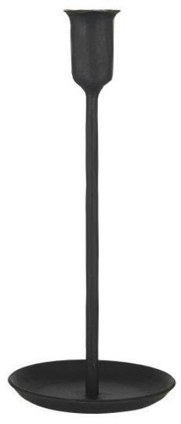salg af Jern lysestage, sort -24 cm.