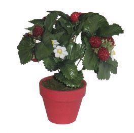 salg af Jordbærbusk i potte - kunstige blomster