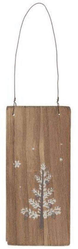 salg af Jule skilt, træ - 7*15 cm.