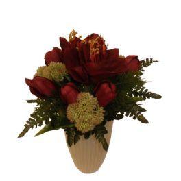 salg af Julebuket - håndbunden - amarylis røde tulipaner
