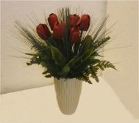 salg af julebuket med r�de tulipaner