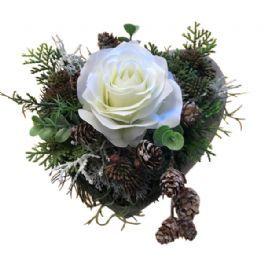 salg af Hvidj uledekoration, Hjerte - 20*20 cm. - kunstige juledekorationer