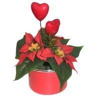 salg af Juledekoration med juelstjerner og hjerter