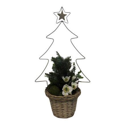 salg af Juledekoration, Natur - 40*80 cm. - kunstige juledekorationer