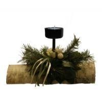 salg af Juledekoration p� birkebr�nde med 1 lys