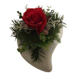 salg af Rød juledekoration, hjerte - 18*22*13 cm. - kunstige juledekorationer