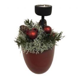 salg af Rød juledekoration, m/lys - 13*20cm.  - kunstige juledekoration